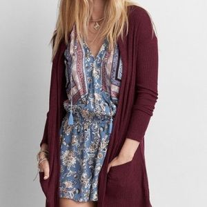 American Eagle Hooded Cardigan